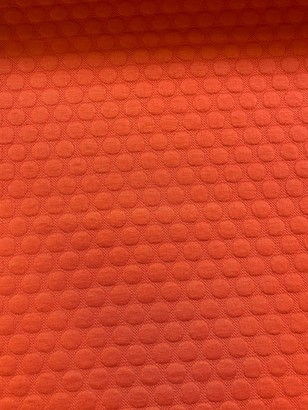 Marvic Fabrics Textured Spots Print Fabric, Orange