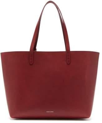Mansur Gavriel Large Leather Tote Bag - Womens - Burgundy
