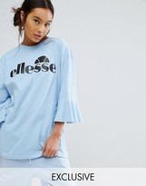Ellesse Oversized T-Shirt With Frill Sleeves And Logo