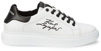 Karl Lagerfeld Paris Signature Leather Sneakers