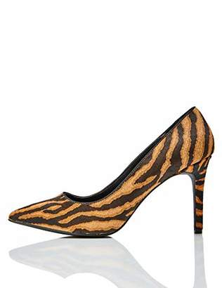 find. Point High Heel Leather Court Closed-Toe Pumps, Black)