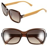 Fendi Women's 55Mm Retro Sunglasses - Transparent Brown