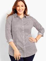 Talbots Womans Exclusive The Perfect Long-Sleeve Shirt - Geo Foulard