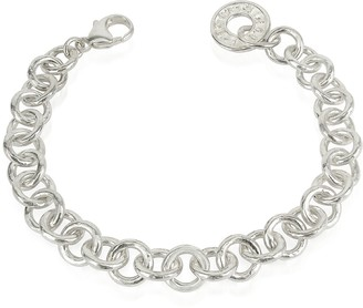 Torrini Coin 1369 - Sterling Silver Rolo Chain Charm Bracelet