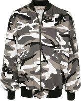 Monkey Time Camouflage Print Bomber Jacket