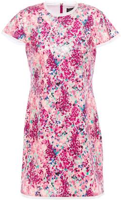 Rachel Zoe Sequined Printed Jersey Mini Dress