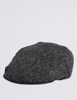 Pure Wool Thinsulatetm Flat Cap With Stormweartm