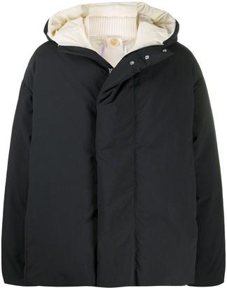 Oamc Ribbed Collar Hooded Parka