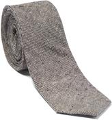 Isaac Mizrahi Gray Linen Tie