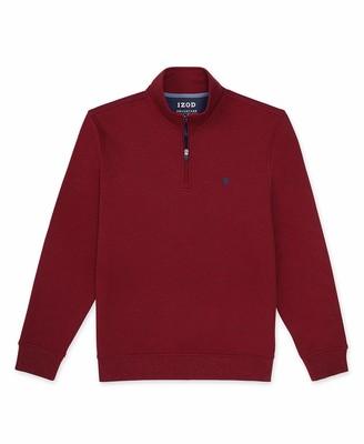 Izod Men's Big Advantage Performance Quarter Zip Fleece Pullover