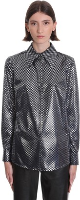 Magda Butrym Blouse Shirt In Blue Polyester