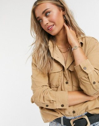 Levi's utility shirt in iced coffee