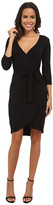 Michael Stars Exclusive 3/4 Sleeve Wrap Dress with Belted Waist