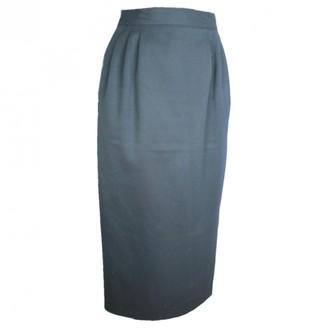 Cacharel Blue Wool Skirt for Women Vintage