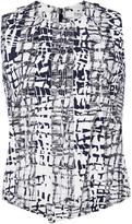 Prabal Gurung Cotton Blend Abstract Printed Top