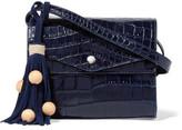 Elizabeth and James Eloise Croc-Effect Glossed-Leather Shoulder Bag