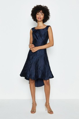 Coast Jacquard Twist Seam Dress