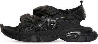 Balenciaga 30mm Track Faux Leather & Nylon Sandals