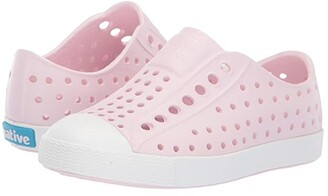 Native Jefferson (Toddler/Little Kid) (Milk Pink/Shell White) Girls Shoes