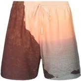 Esteban Cortazar sunset print drawstring shorts