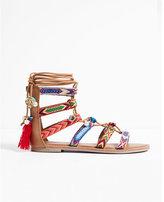 Express Charm Embellished Lace-up Sandal