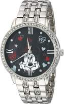 Disney Women's W001831 Minnie Mouse Analog Display Quartz Silver Watch