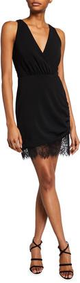 Jay Godfrey Clifford V-Neck Sleeveless Scallop-Hem Dress