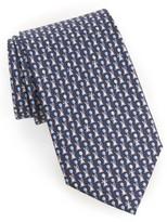 Salvatore Ferragamo Men's Bunny Print Silk Tie