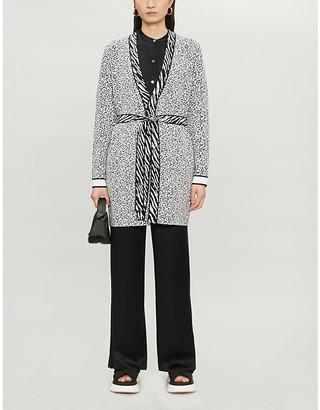 Ted Baker Lyyinda animal-print knitted cardigan