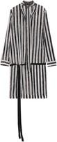 Haider Ackermann Pussy-bow striped silk-georgette top
