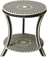 Butler Specialty Maria Bone-Inlay Side Table, Black