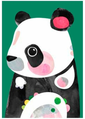 Maxwell & Williams Pete Cromer Wildlife Tea Towel 50x70cm Panda Dark