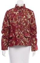 Edun Foliage Jacquard Fitted Jacket