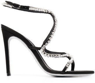 Rene Caovilla Crystal Embellished Strappy Sandals