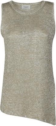 Dondup Fringed Detail Asymmetric Hem Dress