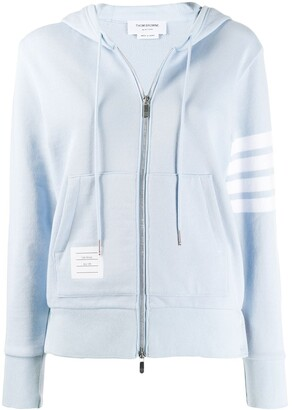 Thom Browne 4-Bar zip-up hoodie