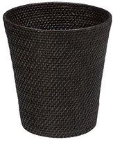 KOUBOO Round Rattan Waste Basket, Espresso