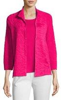 Misook Textured 3/4-Sleeve Jacket, Plus Size