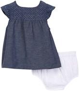 Isaac Mizrahi Eyelet Yoke Chambray Dress & Eyelet Lace Bloomer Set (Baby Girls 12-24M)