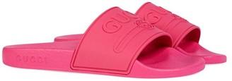 Gucci Kids Children's Gucci logo rubber slide sandal