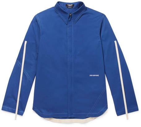 Calvin Klein Cotton-Twill Zip-Up Overshirt