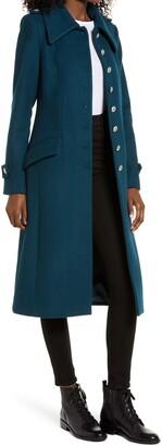 AVEC LES FILLES Wool Blend Fit & Flare Coat