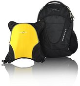 Obersee Oslo Diaper Bag Backpack with Detachable Cooler, Black / Yellow