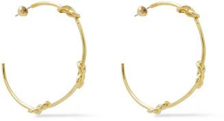 Noir Gold-tone Hoop Earrings