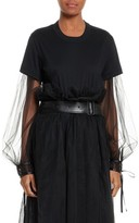 Noir Kei Ninomiya Women's Tulle Sleeve Top