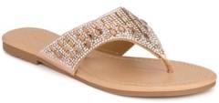 OLIVIA MILLER Eustis Multi Tear Drop Rhinestone Sandals Women's Shoes