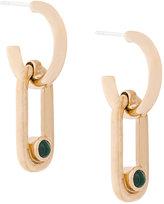 Pamela Love Beaumont malachite earrings