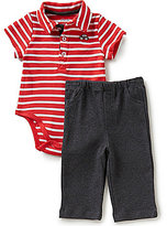 Little Me Baby Boys 3-12 Months Striped Bodysuit and Solid Pants Set