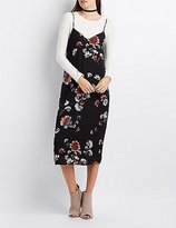 Charlotte Russe Floral Midi Slip Dress