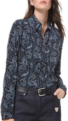 Michael Kors Collection Paisley Silk Button-Down Shirt
